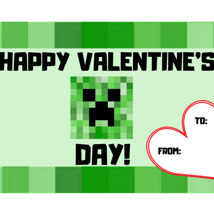 It is a picture of Minecraft Printable Valentines regarding clipart