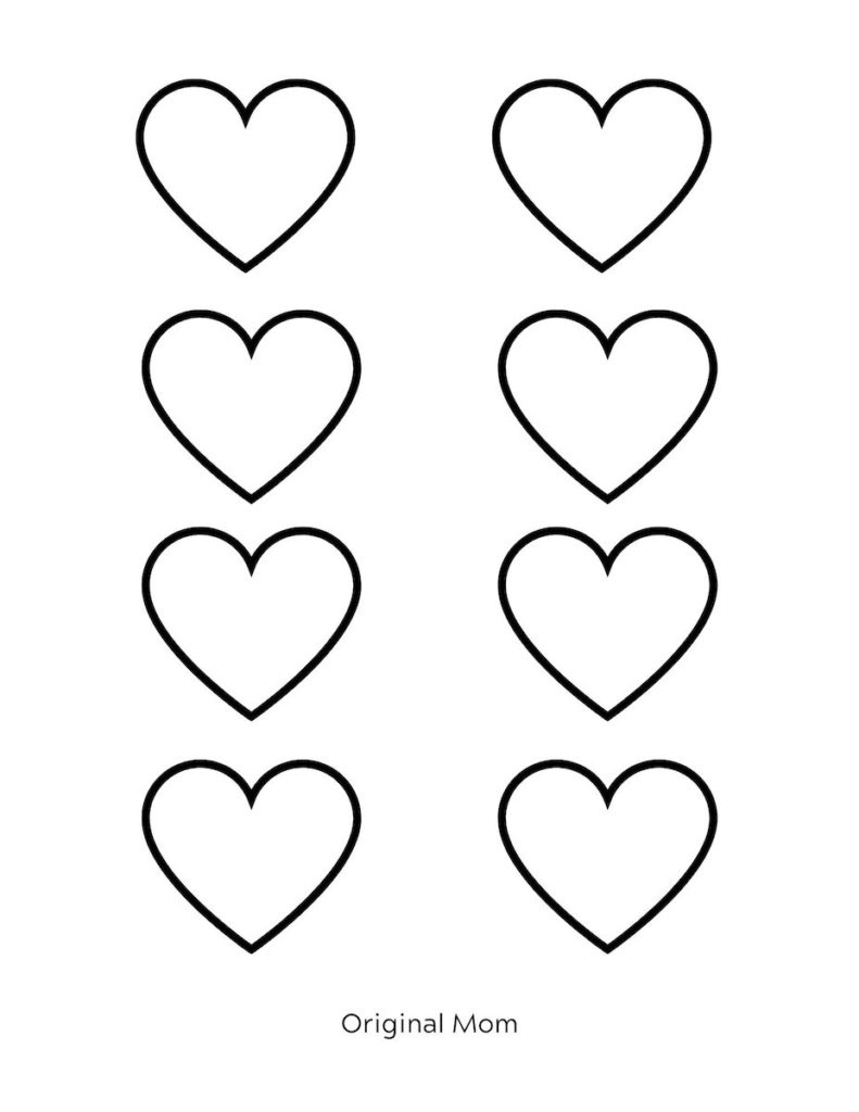 Adorable Free Heart Printable Templates Stencils Originalmom