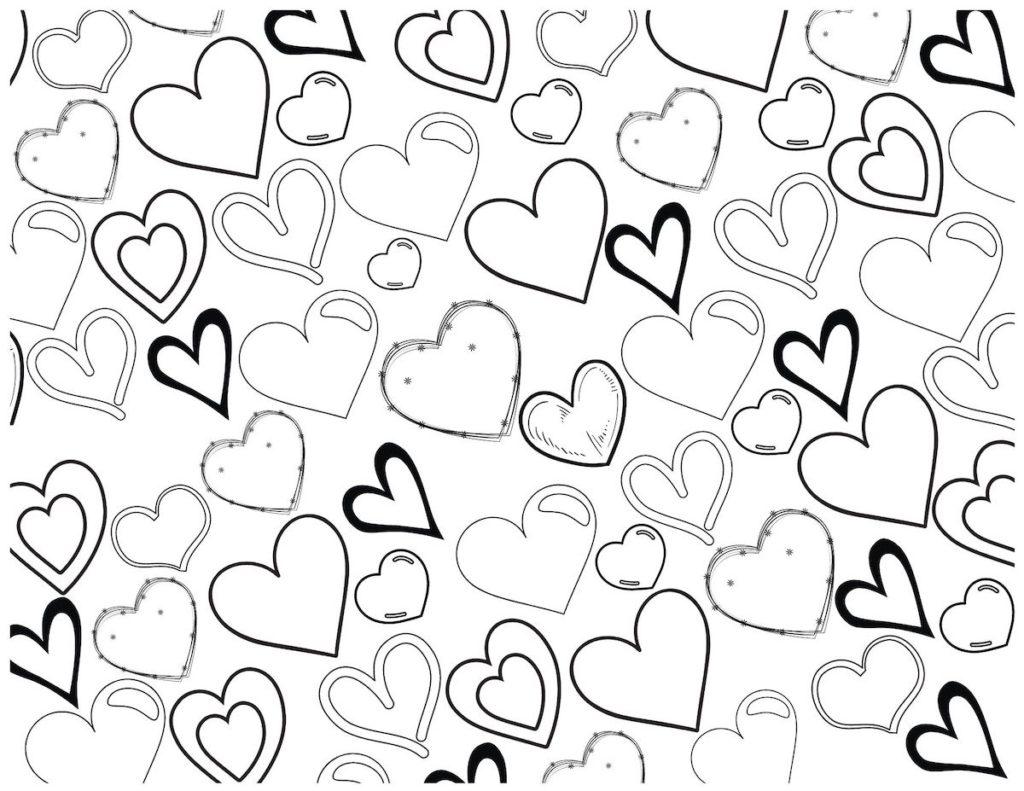 Printable Heart Coloring Sheet Originalmom
