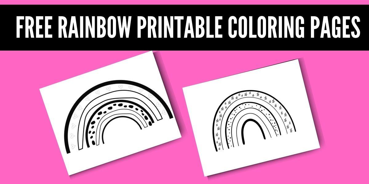 Rainbow Coloring Page Free Printable Pdf Originalmom